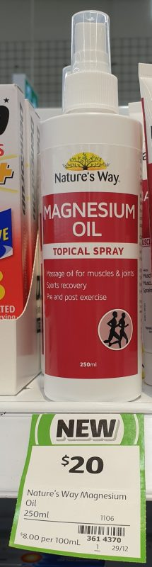 Nature's Way 250mL Magnesium Oil Topical Spray