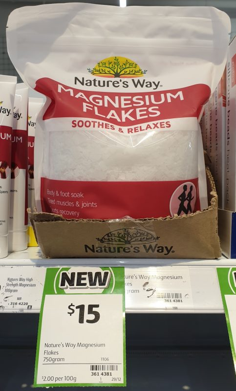 Nature's Way 750g Magnesium Flakes