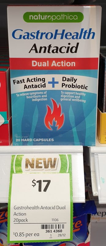 Naturopathica 20 Pack GastroHealth Antacid Dual Action