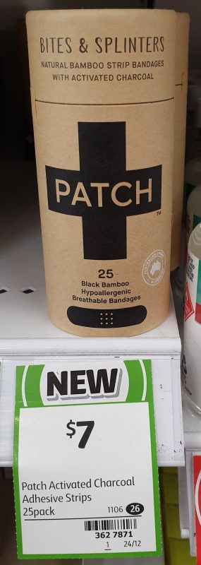 Patch 25 Pack Bandages With Activated Charcoal