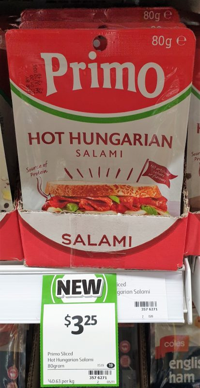 Primo 80g Salami Hungarian Hot