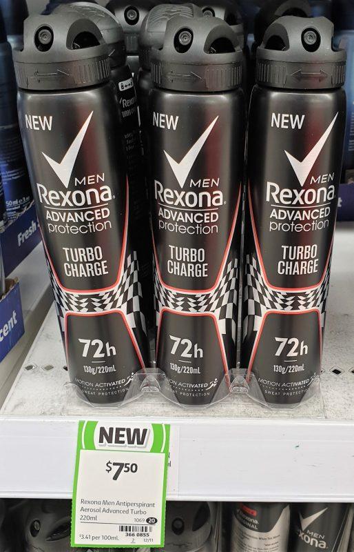 Rexona 220mL Men Antiperspirant Turbo Charge