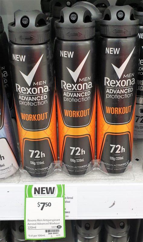 Rexona 220mL Men Antiperspirant Workout