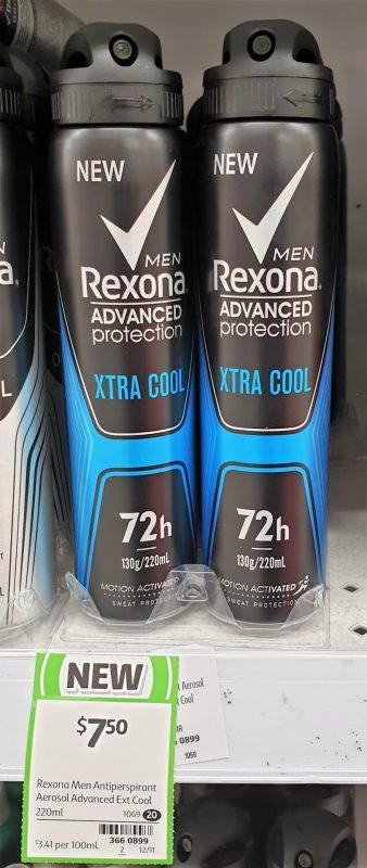Rexona 220mL Men Antiperspirant Xtra Cool