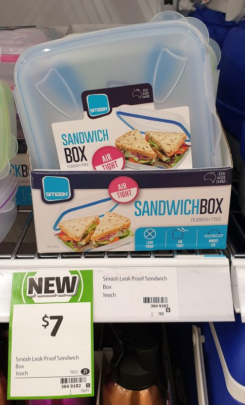 Smash 1 Pack Sandwich Box
