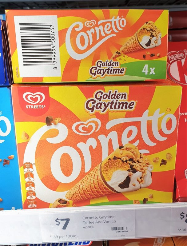Streets 440mL Cornetto Golden Gaytime