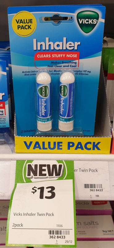 Vicks 2 Pack Inhaler Value Pack