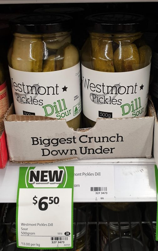Westmont 500g Pickles Dill Sour