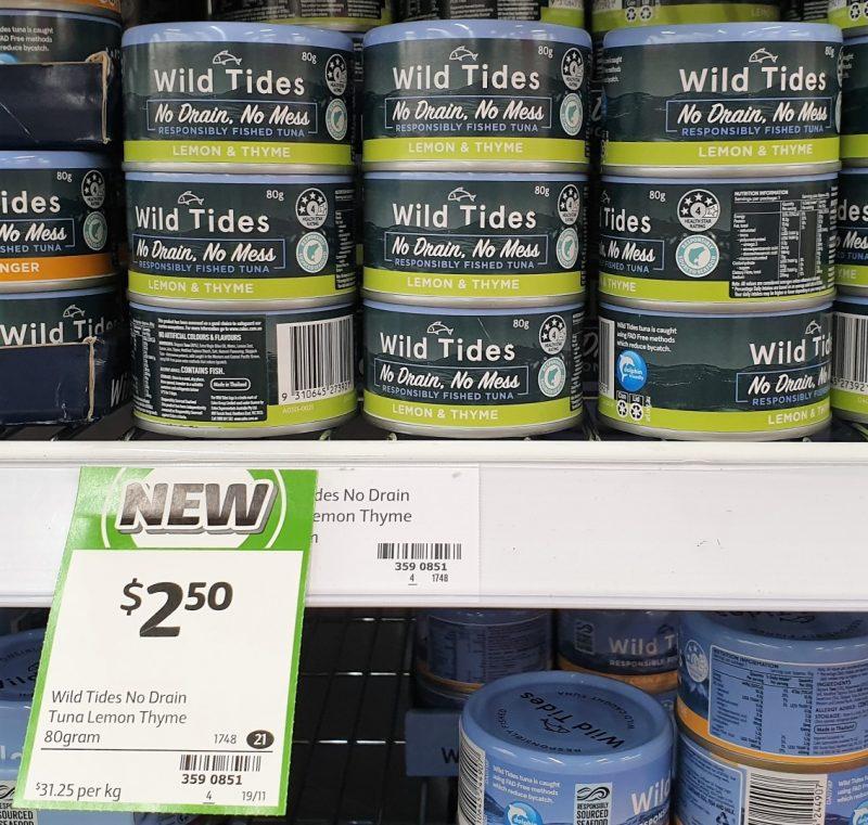 Wild Tides 80g Tuna Lemon & Thyme