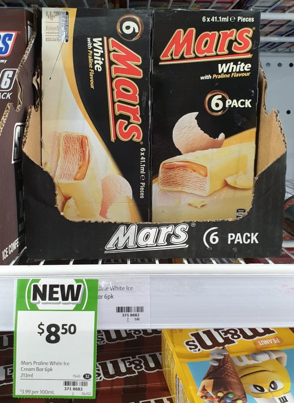 Mars 213mL Ice Cream White With Praline Flavour