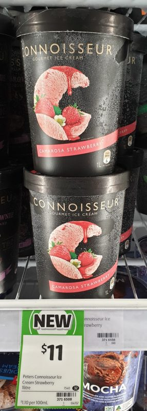 Peters 1L Connoiseur Ice Cream Camarosa Strawberry