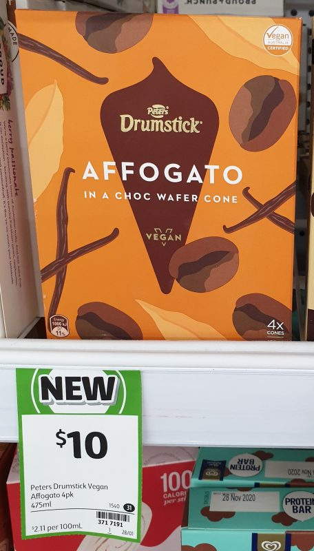Peters 475mL Drumstick Vegan Affogato