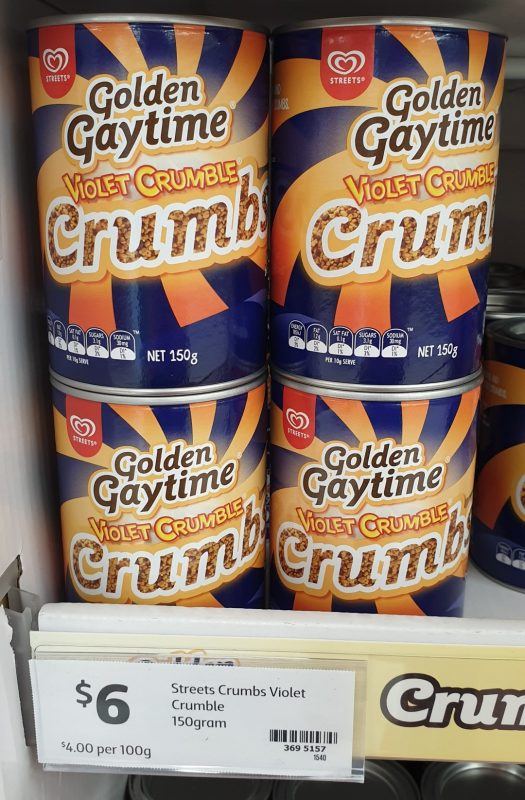 Streets 150g Golden Gaytime Violet Crumble Crumbs