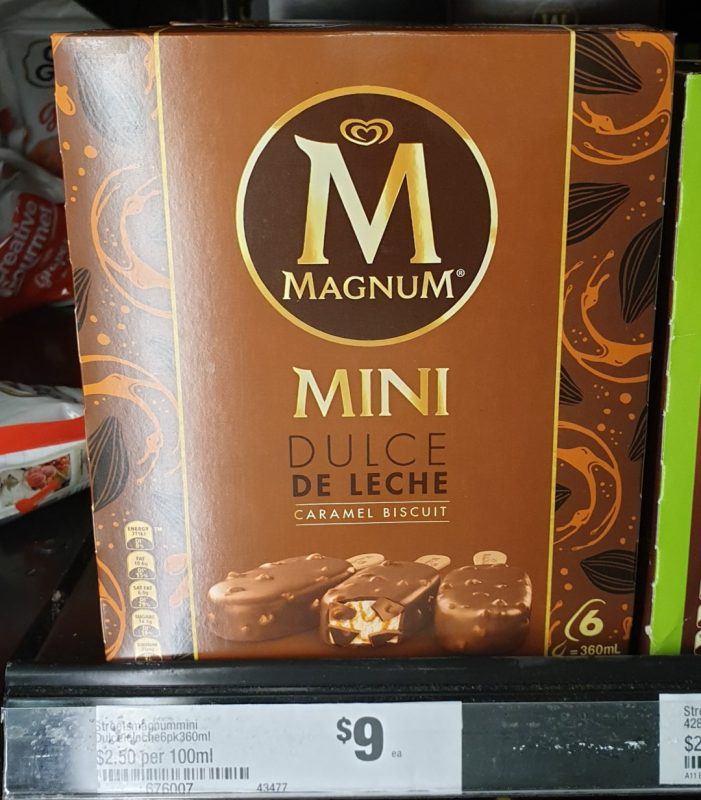 Streets 360mL Magnum Mini Dulce De Leche Caramel Biscuit