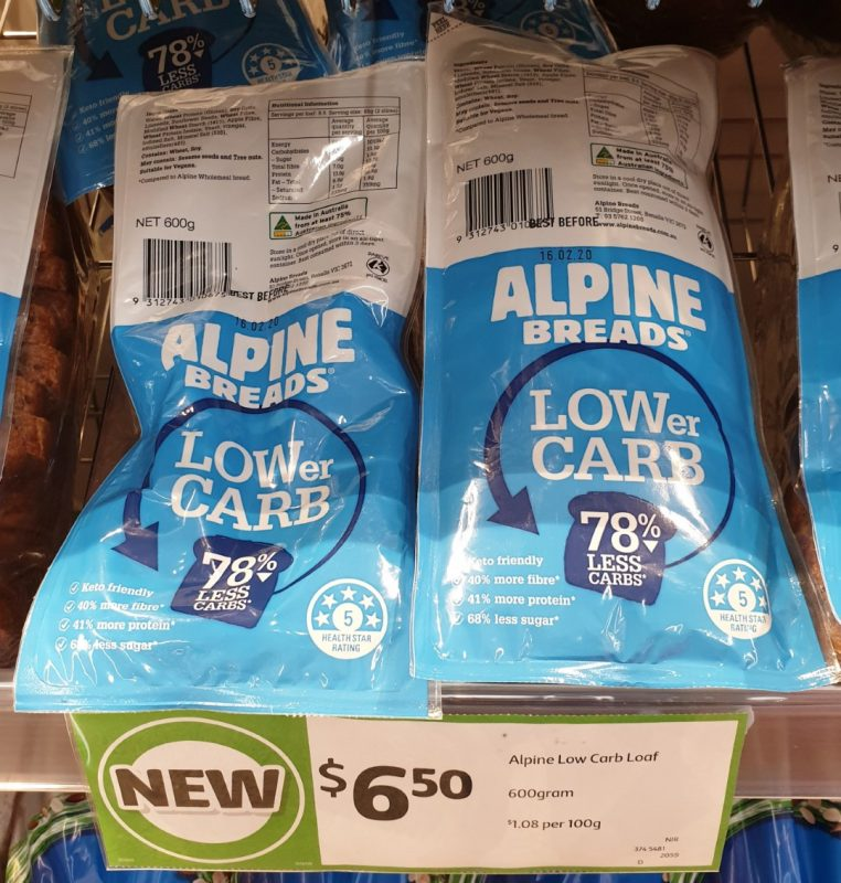 Alpine Breads 600g Lower Carb