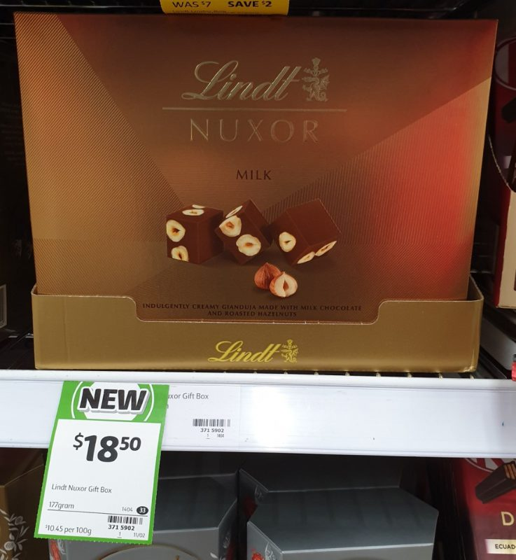 Lindt 177g Nuxor Milk Chocolate
