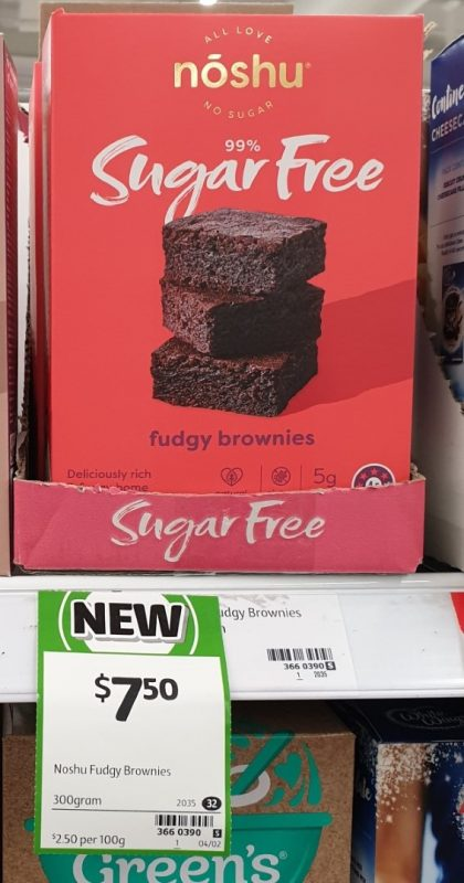 Noshu 300g Brownies Fudgy 99% Sugar Free