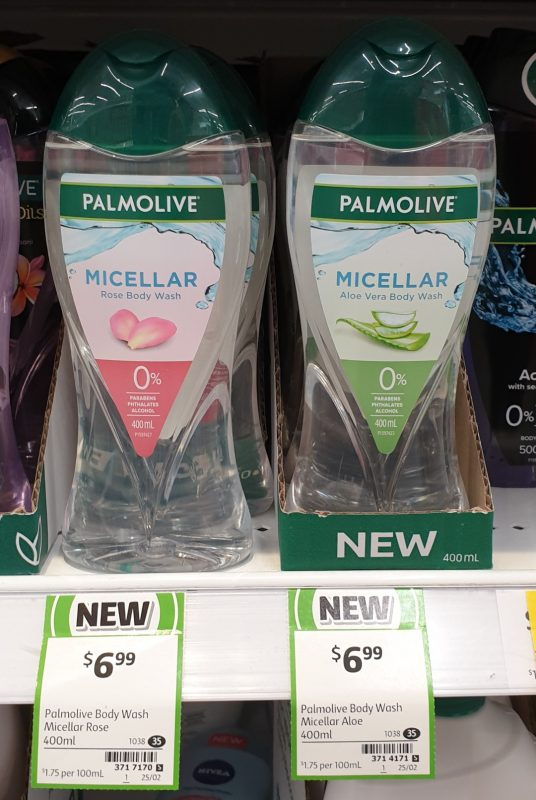 Palmolive 400mL Body Wash Micellar Rose, Aloe Vera