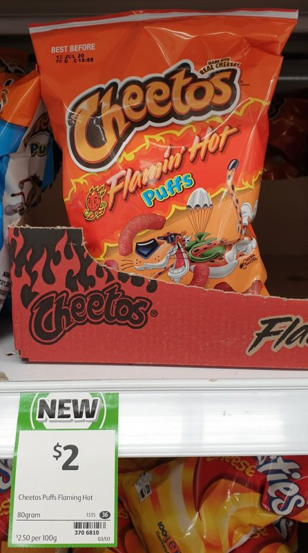 Cheetos 80g Puffs Flamin' Hot