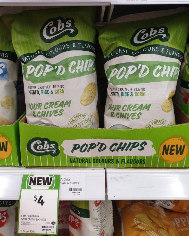 Cobs 110g Pop'd Chips Sour Cream & Chives