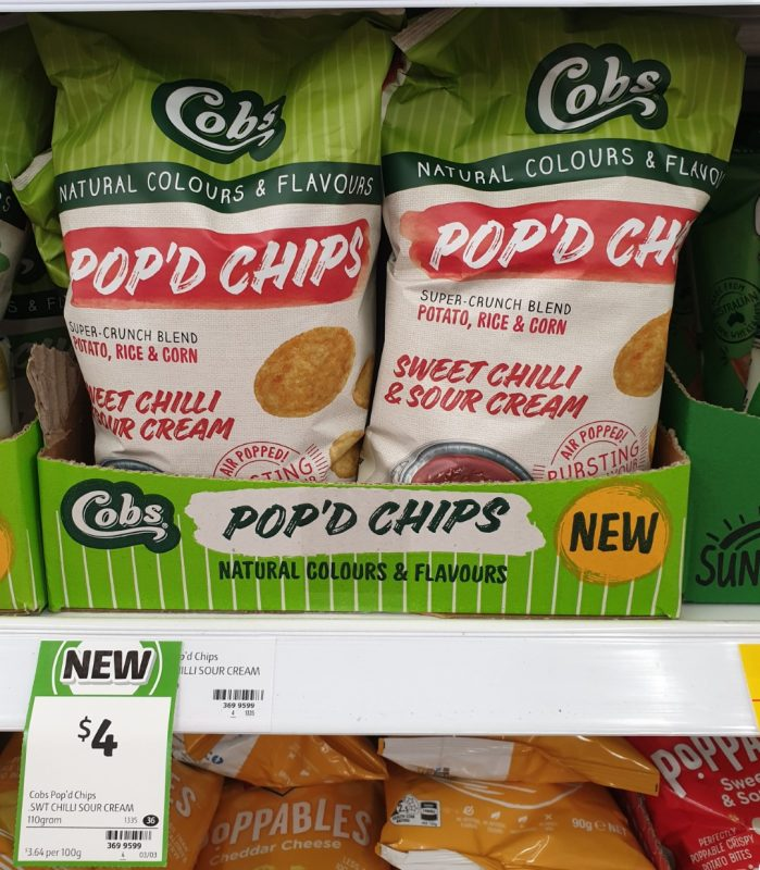 Cobs 110g Pop'd Chips Sweet Chilli & Sour Cream