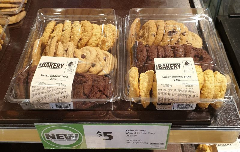 Coles 24 Pack Bakery Cookie Tray Mixed