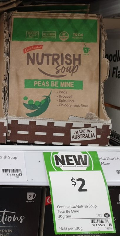 Continental 30g Nutrish Soup Peas Be Mine