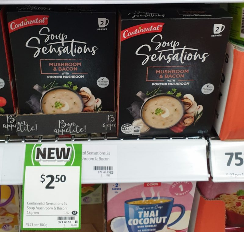 Continental 48g Soup Sensations Mushroom & Bacon