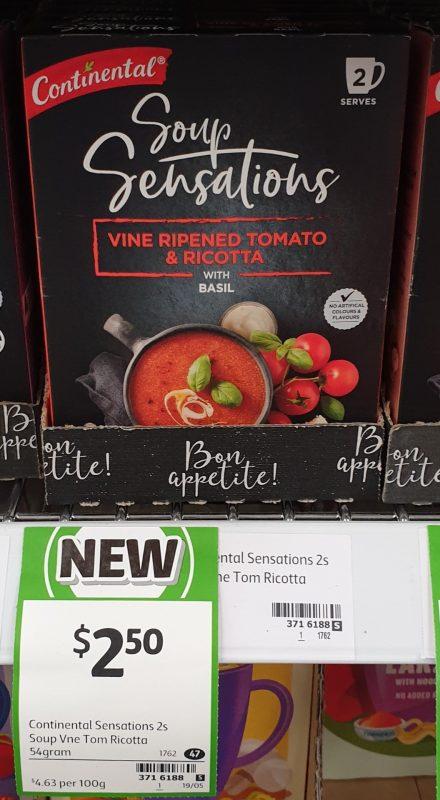 Continental 54g Soup Sensations Vine Ripened Tomato & Ricotta