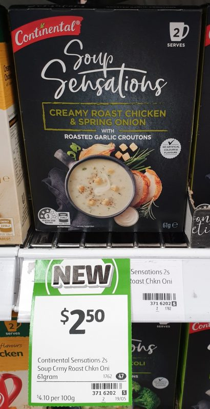 Continental 61g Soup Sensations Creamy Roast Chicken & Spring Onion