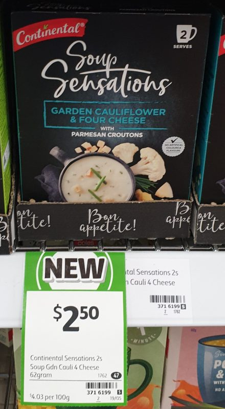 Continental 62g Soup Sensations Garden Cauliflower & Four Cheese