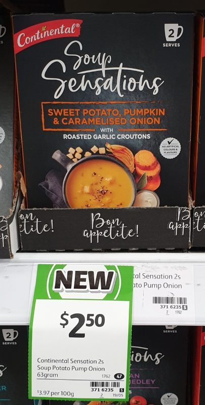 Continental 63g Soup Sensations Sweet Potato, Pumpkin & Caramelised Onion