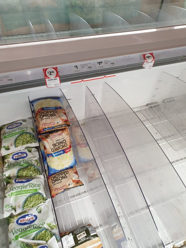 Coronavirus COVID 19 Panic Buy Coles Supermarket Melbourne Coronavirus COVID 19 Panic Buy Coles Supermarket Melbourne Frozen 15th March 2020