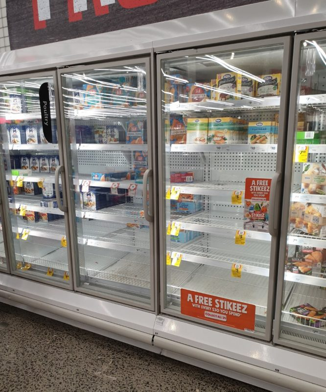 Coronavirus COVID 19 Panic Buy Coles Supermarket Melbourne Frozen Fish Chicken 15th March 2020 1