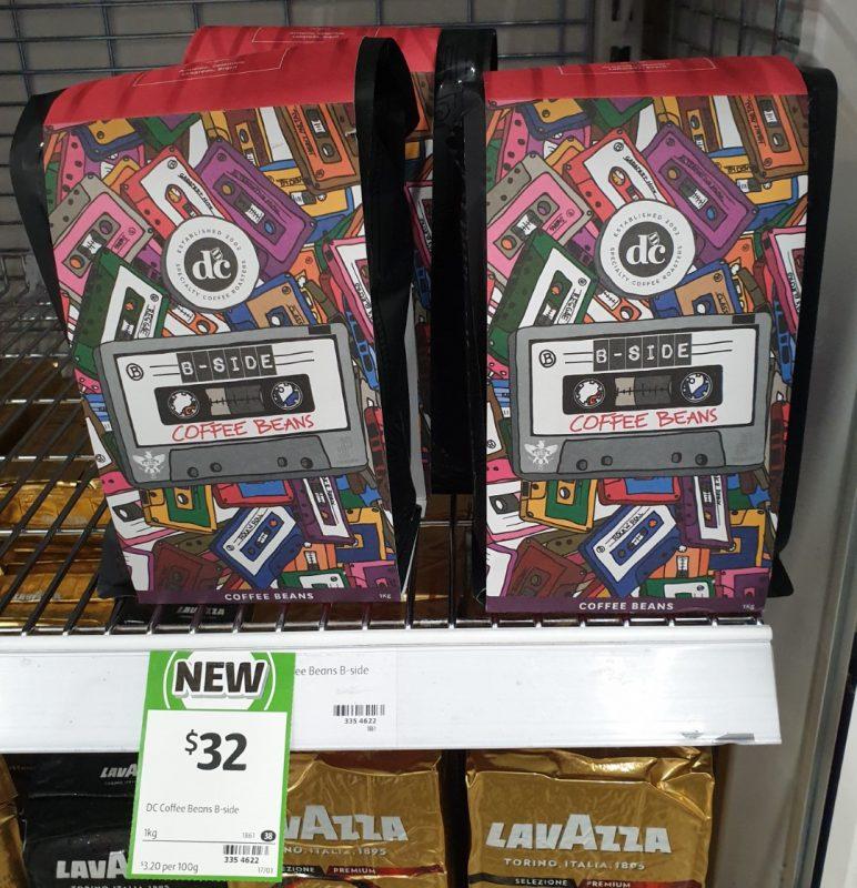 DC Coffee 1kg Coffee Beans B Side