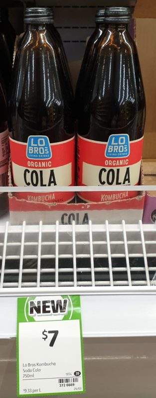 Lo Bro's 750mL Kombucha Organic Cola
