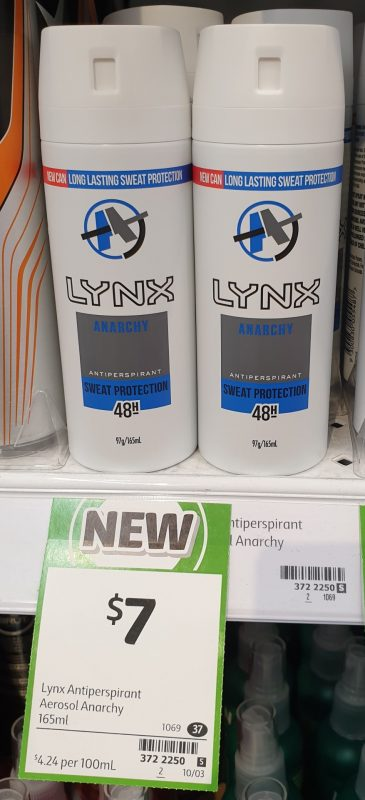 Lynx 165mL Antiperspirant Anarchy