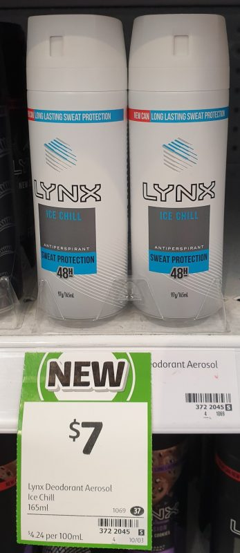 Lynx 165mL Antiperspirant Ice Chill