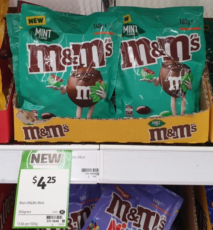M&M's 160g Mint Flavour