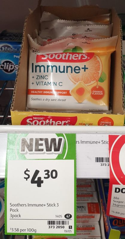 Nestle 3 Pack Soothers Immune + Orange Flavour