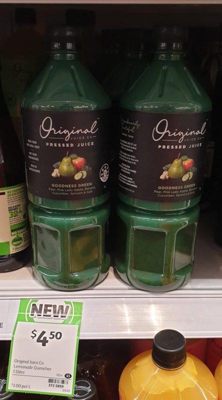 Original Juice Co 1.5L Pressed Juice Goodness Green
