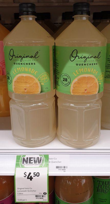 Original Juice Co 1.5L Quenchers Lemonade