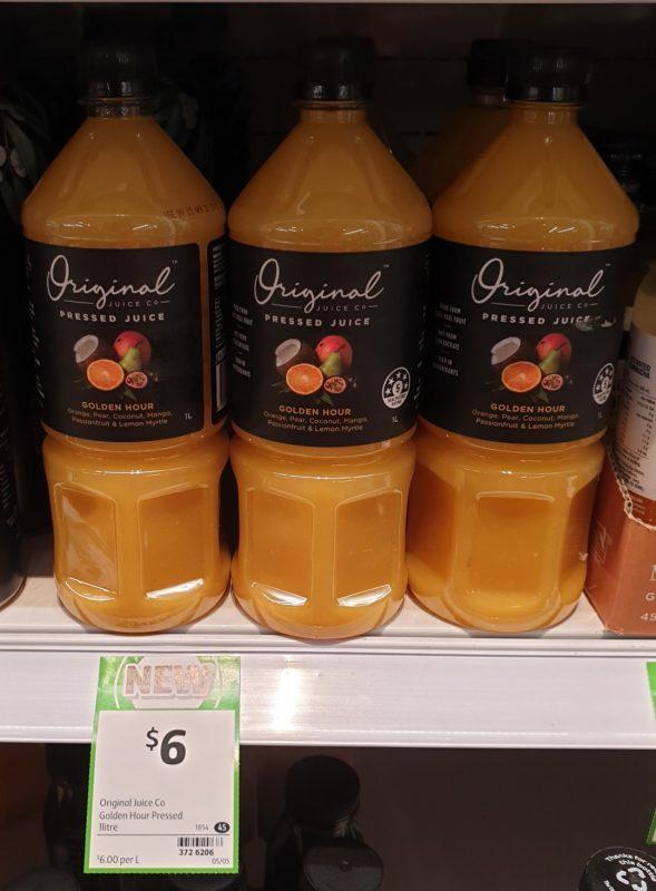 Original Juice Co 1L Juice Pressed Golden Hour