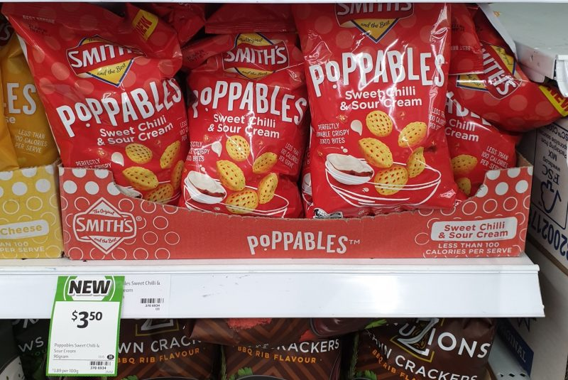 Smith's 90g Poppables Sweet Chilli & Sour Cream
