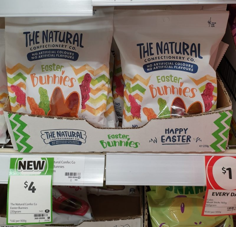 The Natural Confectionery Co 220g Easter Bunnies