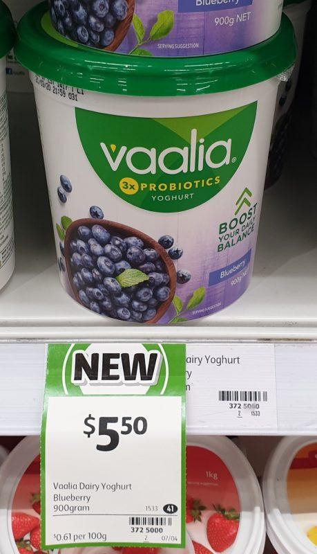 Vaalia 900g Yoghurt Blueberry