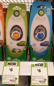 Air Wick 2.5mL Pure Car Freshener Daintree Rainforest, Great Ocean Road