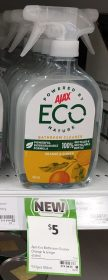 Ajax 450mL Eco Bathroom Cleaner Orange & Ginger