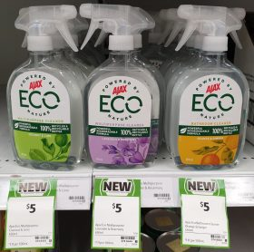 Ajax 450mL Eco Mulipurpose Cleaner Coconut & Lime, Lavender & Rosemary Copy