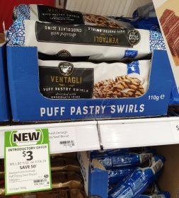 Always Fresh 110g Puff Pastry Swirls Chocolate Icing